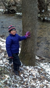 Clara and Tree at Creek