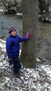 Clara and Tree at Creek