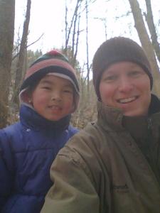 Dad and Clara at creek