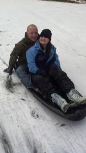 Josh and Katy snow