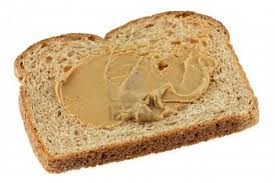 peanut butter on bread