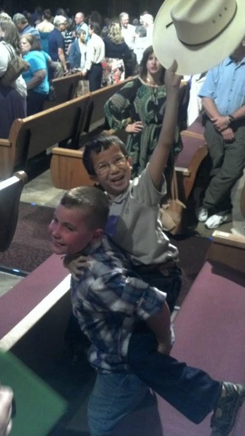 Andrew and Mason