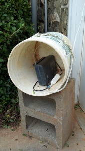 radio in bucket