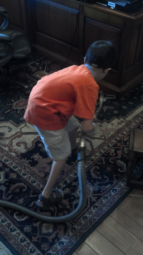 Andrew cleaning