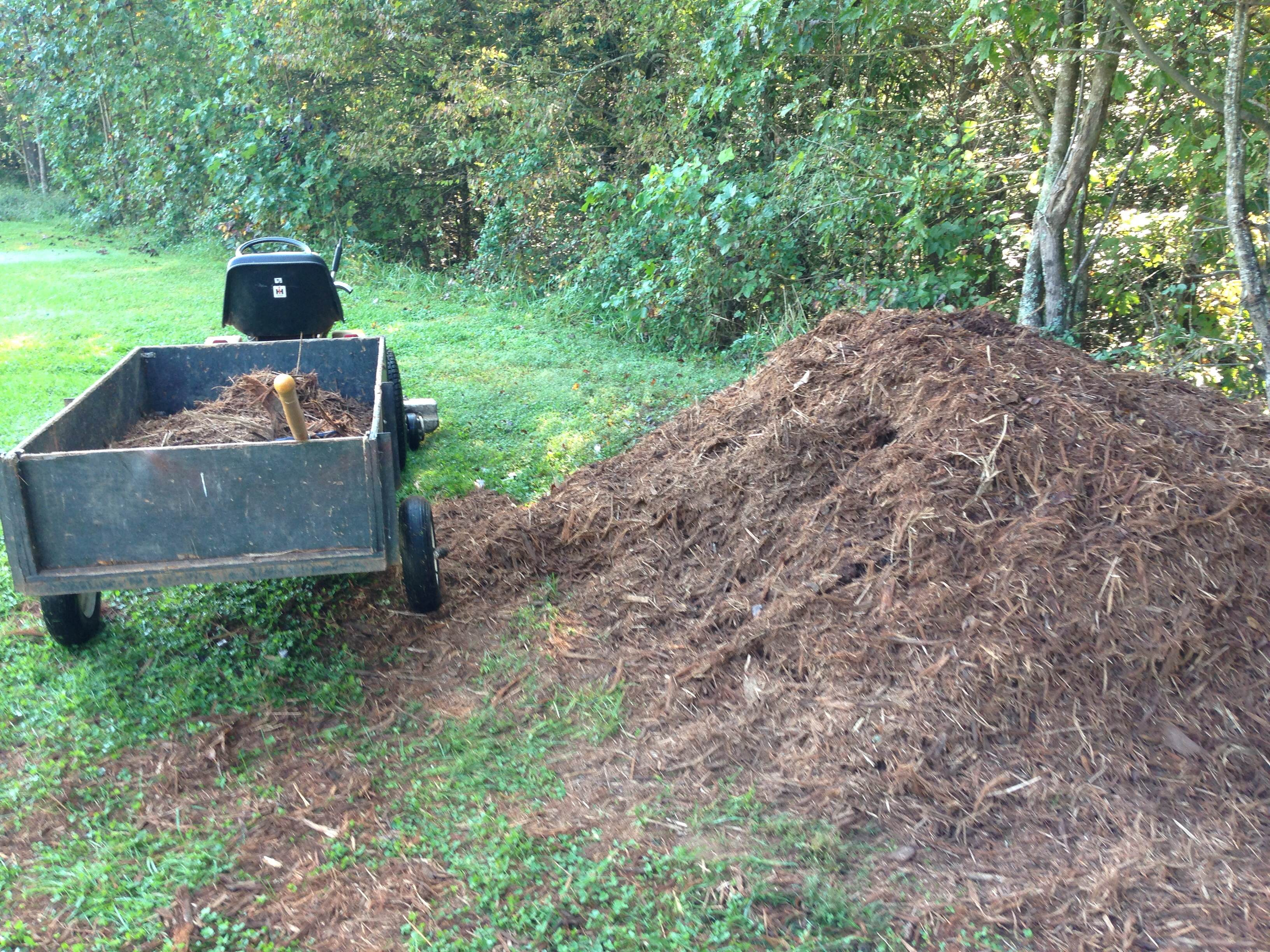Backyard Mulch Pile : see that pile of mulch like a pile of faith that load of mulch