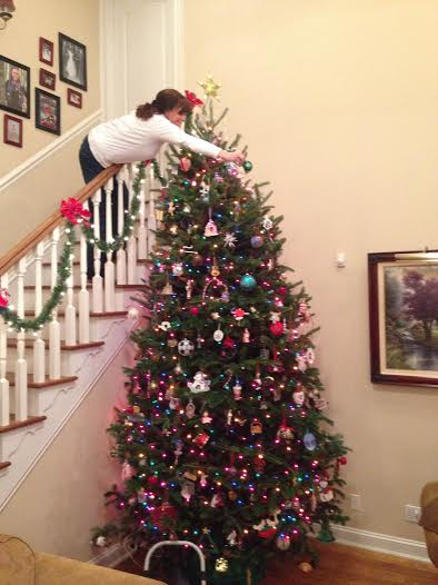 Pam decorating tree