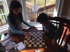 Andrew and Clara chess