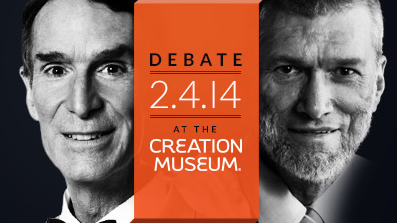 Ham-Nye debate image from center for inquiry
