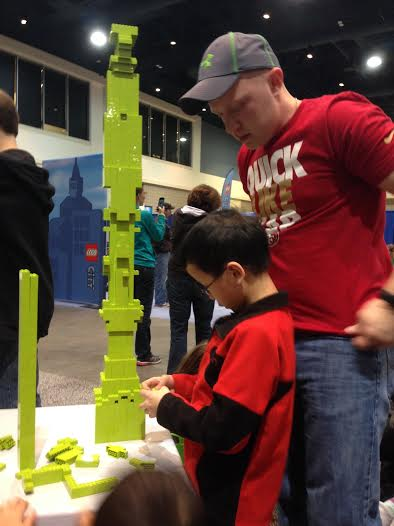 Lego-tower building