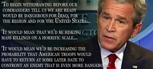 Bush's prediction