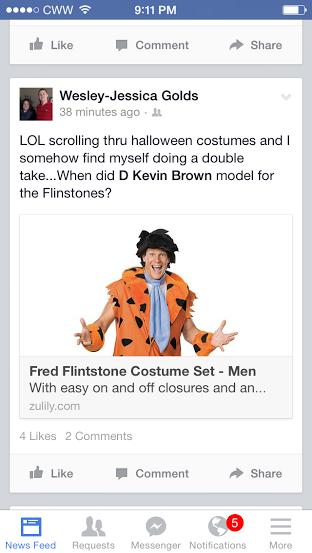 Kevin as Flintstone
