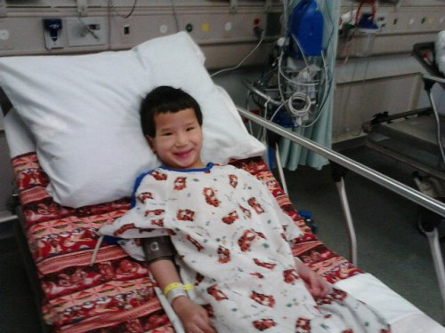 Andrew before surgery